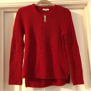 Madewell Crew Neck Red Swester